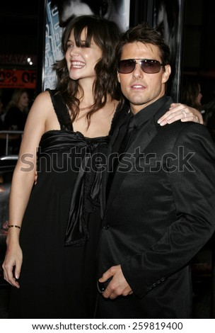 "May 4, 2006. Tom Cruise and Katie Holmes at the Los Angeles Fan Screening of ""Mission: Impossible III"" held at the Grauman's Chinese Theatre in Hollywood, California United States. - stock photo"
