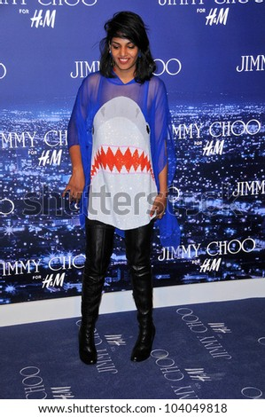 Maya Arulpragasam at the Jimmy Choo For H&M Collection, Private Location, Los Angeles, CA. 11-02-09