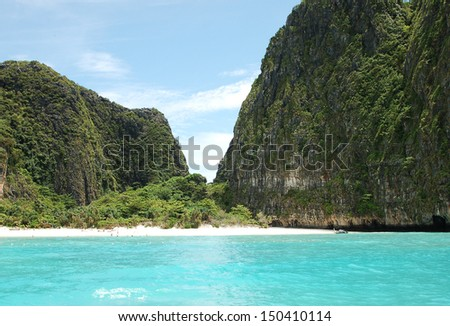 Maya beach-Thailand - an ocean view - stock photo