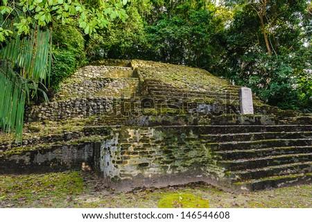 Maya civilization constructions in Belize - stock photo