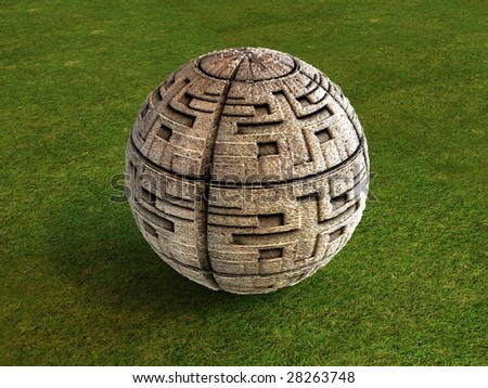 Maya football - stock photo