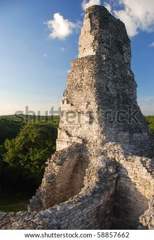 Maya ruins in Xpujil, Mexico - stock photo