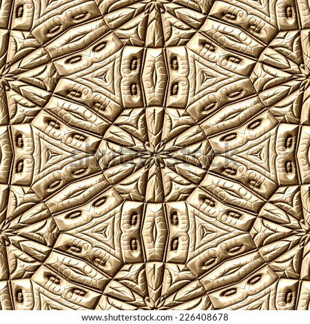 Mayan ornaments seamless hires generated texture - stock photo
