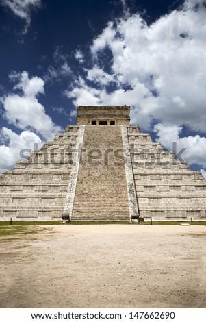 Mayan pyramid - stock photo
