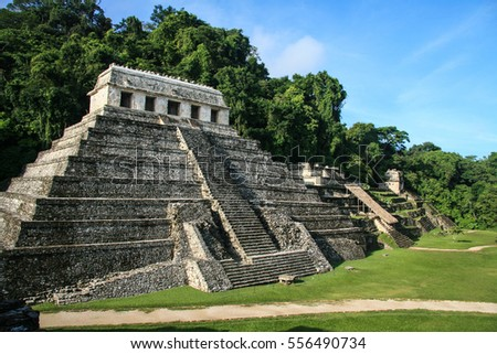 Mayan Ruins of Palenque in Mexico
