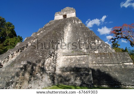 Mayan Temple in Guatemala - stock photo