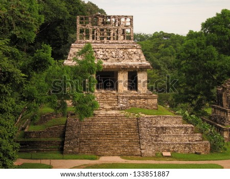 Mayan temple in Palenque