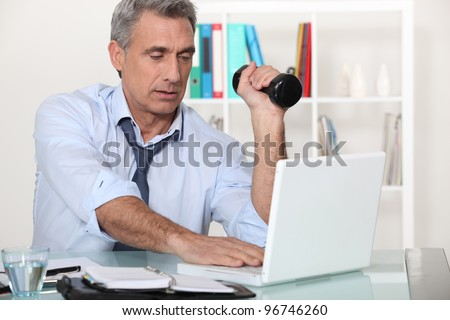 Maybe a little work out will make me feel better - stock photo