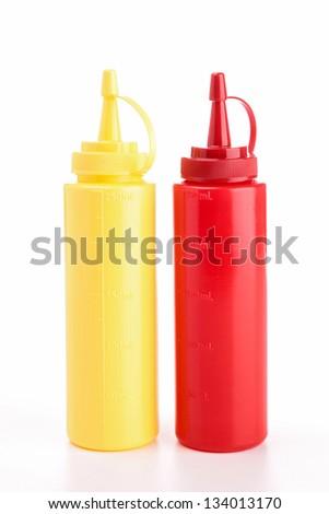 mayonnaise and ketchup - stock photo