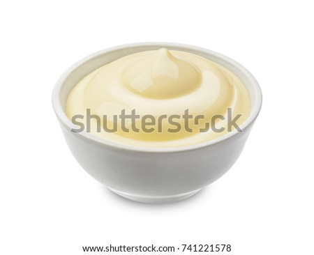 Mayonnaise isolated on white background with clipping path