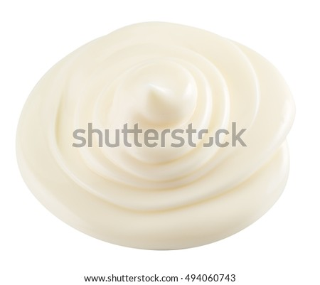 Mayonnaise swirl. File contains clipping paths. Top view.
