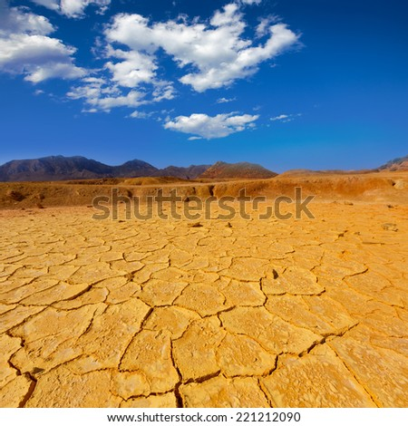 Mazarron Murcia old mine acid dry lake texture in Spain