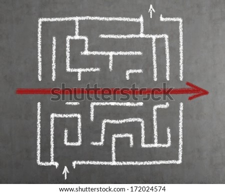 Maze 2 - stock photo