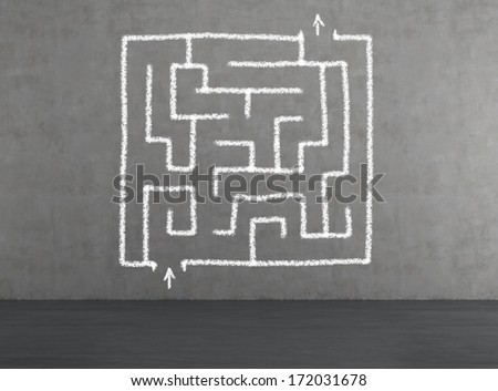 Maze 3 - stock photo