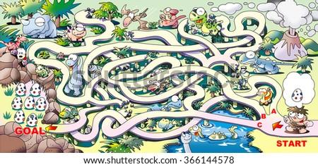 Maze of dinosaur - stock photo
