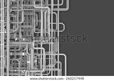 Maze of pipes background - stock photo