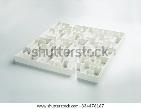 Maze on white background concept for decision-making