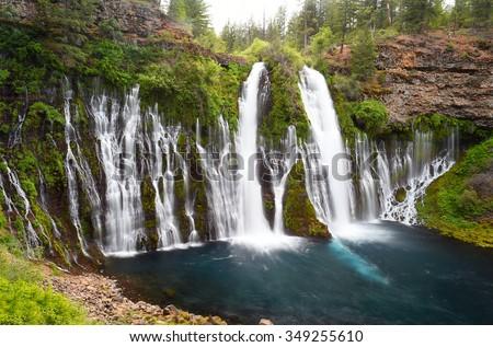 McArthur Burney falls, Burney, California, United States - stock photo