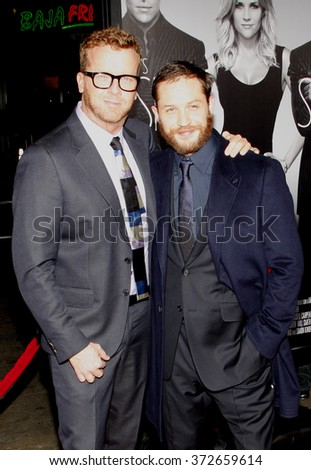 """McG and Tom Hardy at the Los Angles Premiere of """"This Means War"""" held at the Grauman's Chinese Theater, California, United States on February 8, 2012.  - stock photo"""