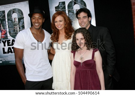 McKinley Freeman and Rachel Boston with Senta Moses and Aaron Michael Metchik  at the Los Angeles Sneak Peek Screening of 'Ten Years Later'. Majestic Crest Theatre, Los Angeles, CA. 07-16-09