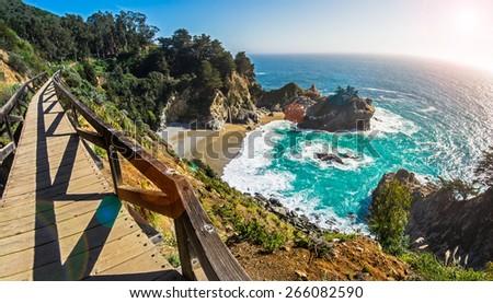 McWay Fall Big Sur, California - stock photo