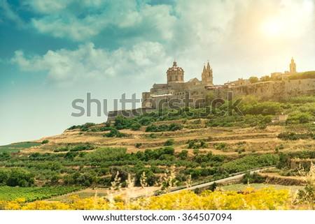 Mdina in the day. Malta - stock photo
