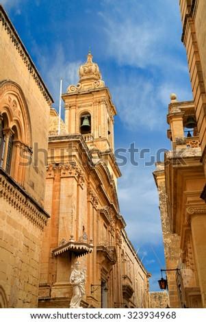 mdina malta - stock photo
