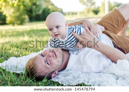 Me and my Dad - stock photo