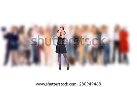 Me and Them Individual and Crowd  - stock photo