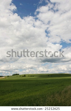 Meadow and cloudy sky (Latvia)