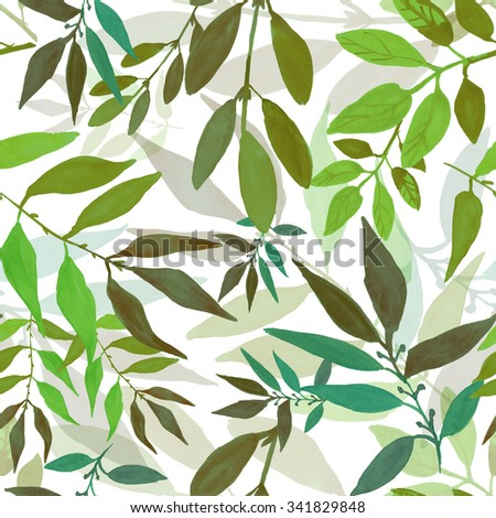 Meadow flowers and wild herbs. Seamless floral wallpaper. Watercolor for fashion design - stock photo