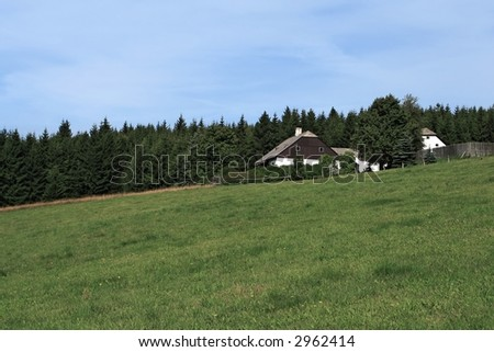 Meadow with the house - Czech Republic