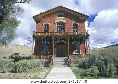 Meads Hotel, Bannack MT, Ghost Town - stock photo