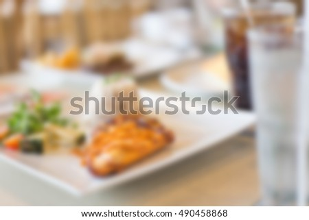 meal blurred background