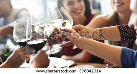 Meal Cafe Eating Collaboration Business Food Concept - stock photo