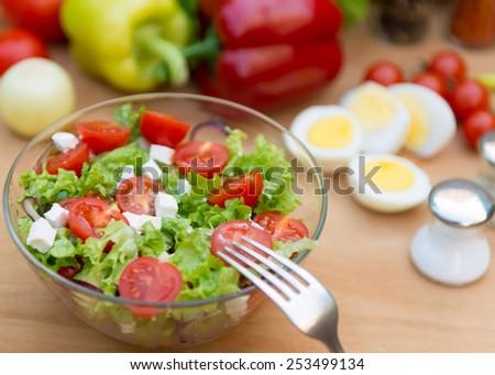 Meal salad - stock photo