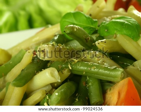 Meal with mixed vegetables