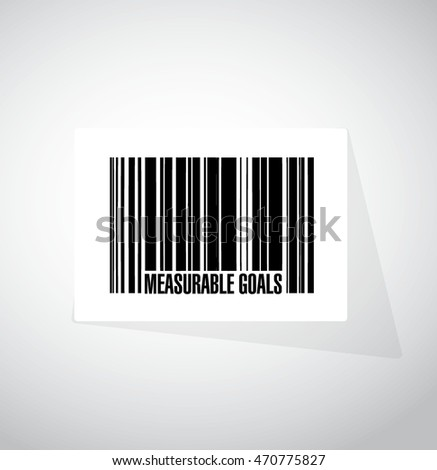measurable goals barcode sign concept illustration design graphic