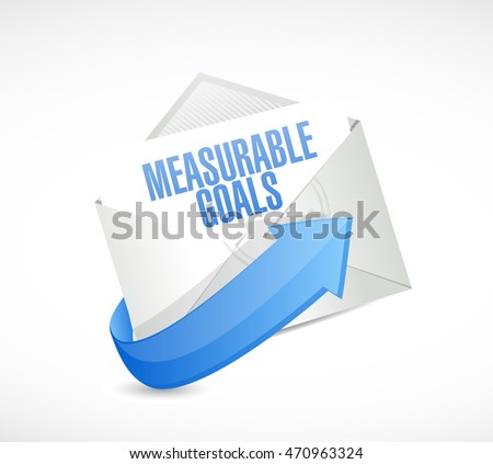 measurable goals mail sign concept illustration design graphic
