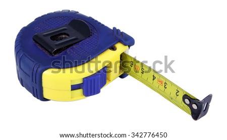 Measure tape. Home measure tape. Tape meter. - stock photo