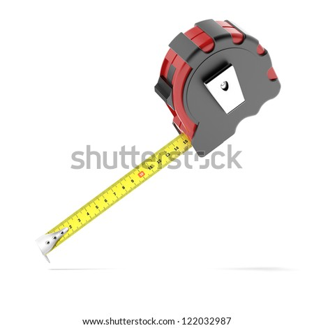 Measure tape isolated on a white background