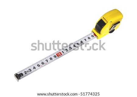 Measure tape on white background