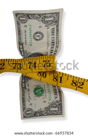 Measure your cash these days. - stock photo