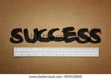 Measure your success concepts - stock photo