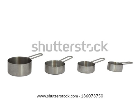 measuring cup on white  background - stock photo