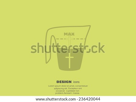 measuring cup vector icon illustration - stock photo