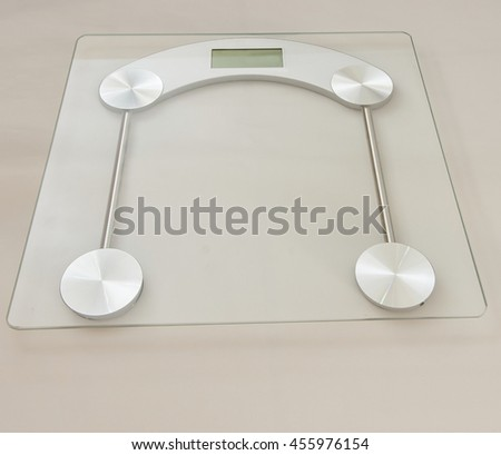Measuring device using digital technology.Bathroom Scale/Instrument for determining weight - stock photo