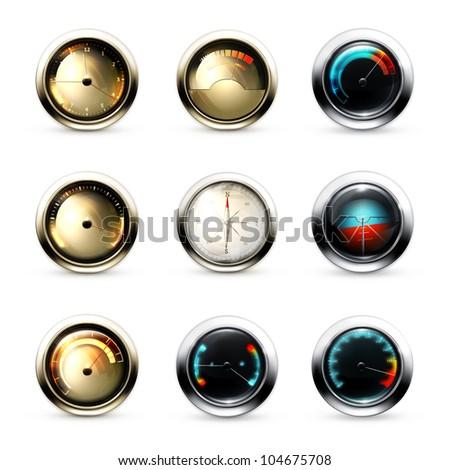 Measuring Devices set, bitmap copy - stock photo