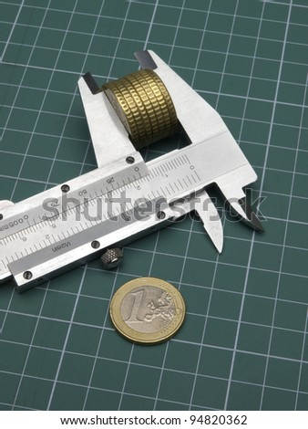 Measuring instrument for money value