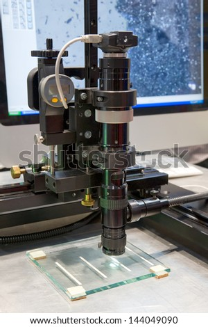 Measuring instrument for quality inspection  - stock photo